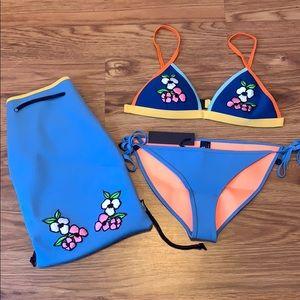 TRIANGL Jean Bikini with matching bag